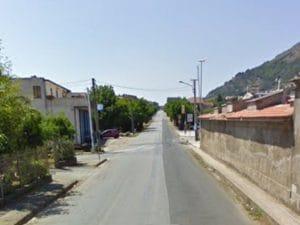 Il luogo dell'investimento di Giuseppe Guerriero, nei pressi del cimitero di Pietravairano