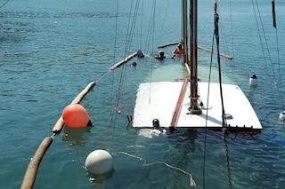 Barca a vela affonda a Casamicciola, messa in sicurezza dai Vigili del Fuoco