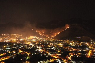 Domato l'incendio a Sarno, ora la pioggia fa paura: si teme una nuova alluvione