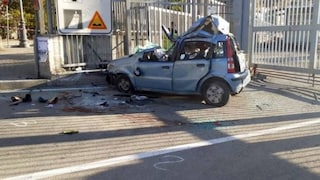Salerno, incidente in via Ligea: auto si ribalta, un morto e quattro feriti gravi