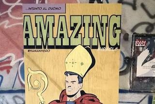 Napoli, è sparito il San Gennaro Supereroe: il dipinto rubato dopo una notte