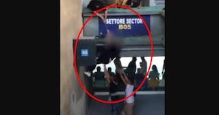 Ripresi dalle telecamere mentre scavalcano allo stadio, 5 Daspo e 32 tifosi denunciati