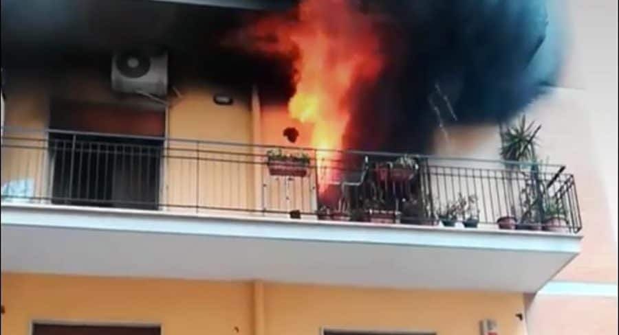 L'incendio dell'appartamento