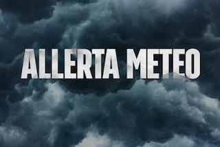 Allerta meteo gialla in Campania: vento, temporali, grandine e rischio frane fino alle 12 di domani