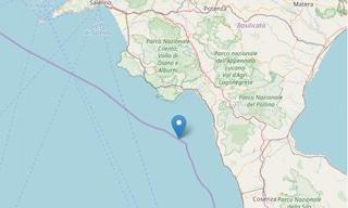 Sciame sismico al largo del Golfo di Policastro: quattro terremoti nella notte