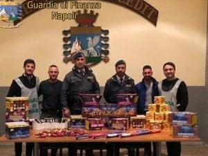 I botti illegali di Capodanno sequestrati a Quarto.