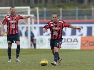 Michel Cruciani con la maglia della Casertana Calcio
