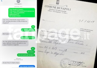 Matrimonio Tony Colombo e Tina Rispoli, ecco i messaggi tra il neomelodico e Claudio De Magistris