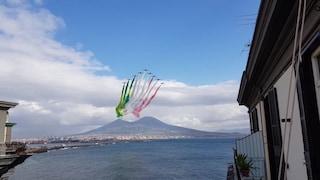 Frecce Tricolori a Napoli: spettacolo sul lungomare