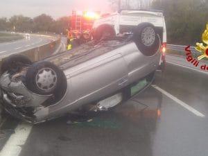 Incidente sull'Autostrada A16 – foto vigili del fuoco