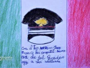 Una delle letterine regalate alla vedova di Mario Cerciello Rega (Foto: Rino D'Antonio)