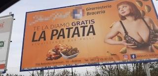 """Pubblicità sessista ad Aversa: """"La patata te la diamo gratis ogni due polli"""""""