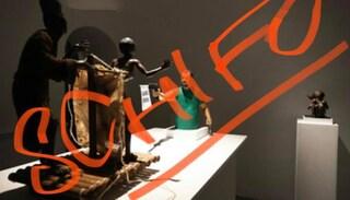"""Matteo Salvini: """"La scultura esposta a Napoli non fa ridere, è un atto criminale"""""""