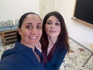 L'ex-sindaca Rosa de Lucia (a sinistra) e l'ex-assessora Cecilia D'Anna (a destra).