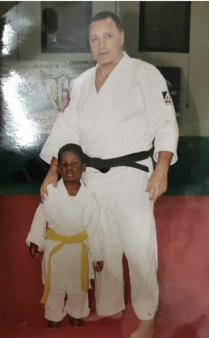Bright con suo padre Gianni /foto famiglia Maddaloni