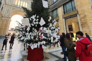 Quasi incredibile: l'albero di Natale Galleria Umberto è (ancora) al suo posto
