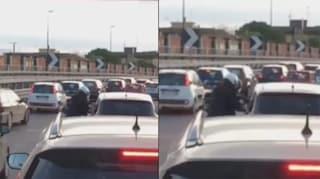 Rapina nel traffico sull'Asse Perimetrale, preso anche il complice