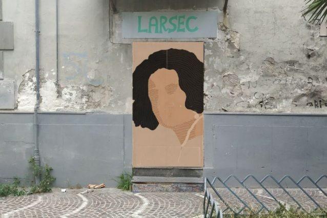 Il murales al Larsec