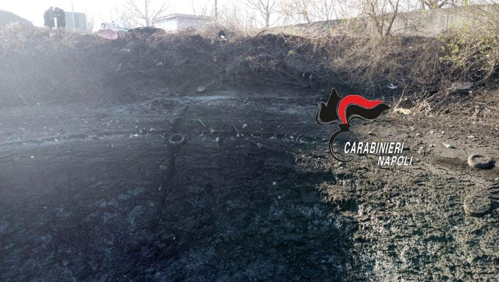 Il bacino sequestrato a Carbonara di Nola dai carabinieri.