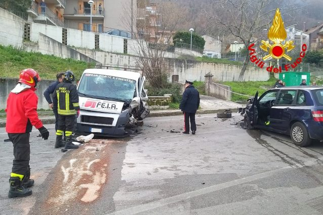 L'incidente a Monteforte Irpino