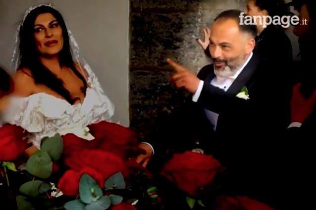 Tina Rispoli e il fratello Vincenzo al matrimonio