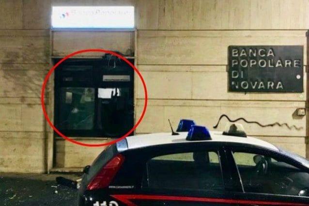 Il bancomat fatto esplodere