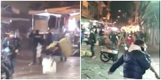 Falò di Sant'Antonio: scontri tra bande di ragazzini e poliziotti nel mercato del Borgo