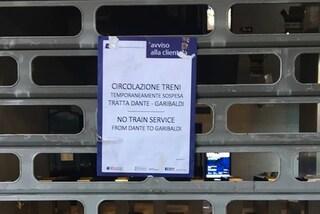 Linea 1 della metropolitana chiusa tra Garibaldi e Dante per 5 ore