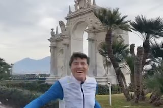 Gianni Morandi di corsa a Napoli:''Una splendida città che amo da sempre''