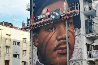 A Barra il volto di Martin Luther King: il nuovo murales di Jorit