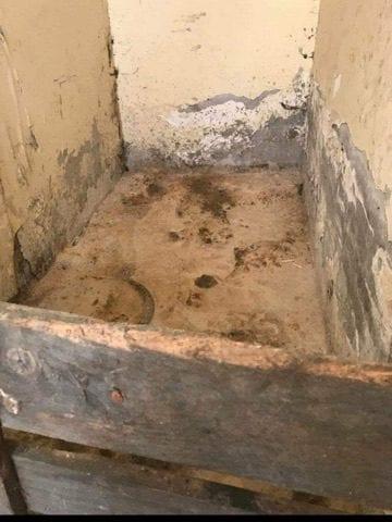 Il massetto dove erano stati cementati i resti di Vincenzo