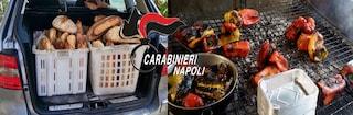 Napoli, pane e peperoni alla brace in pessime condizioni venduti in strada: cinque denunce