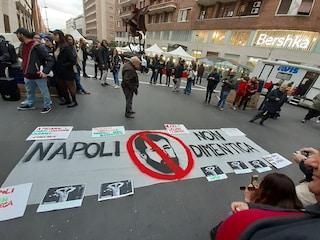 Salvini a Napoli, città blindata e proteste contro il leader della Lega