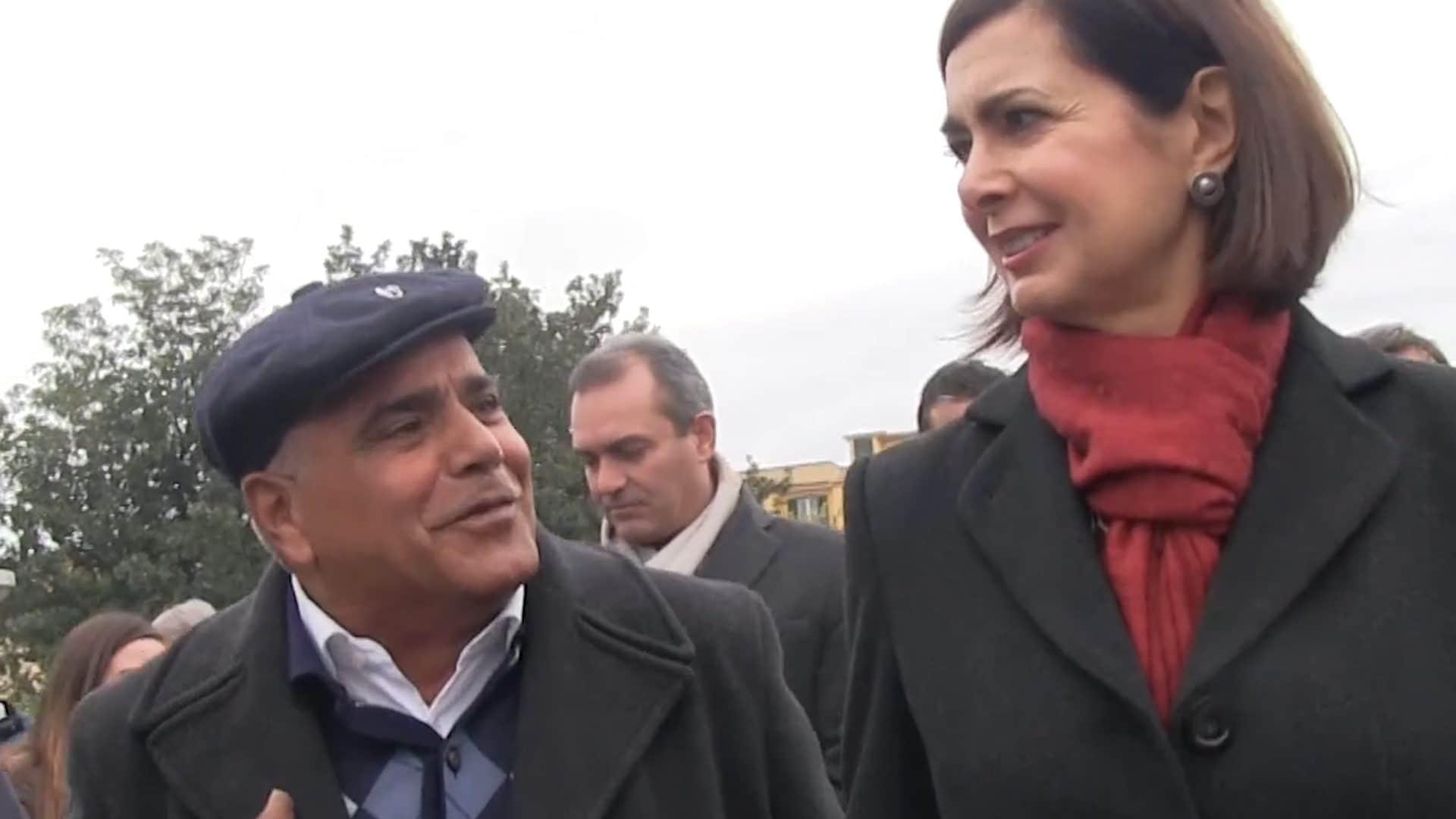 Vittorio Passeggio con Boldrini e de Magistris