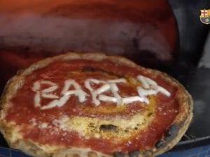 La pizza dedicata al Barcellona