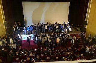 Salvini a Napoli, salta la corrente al Teatro Augusteo: interrotto comizio del leader della Lega