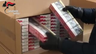 Nascondono un GPS nell'auto del contrabbandiere e trovano 704 chili di sigarette in un box
