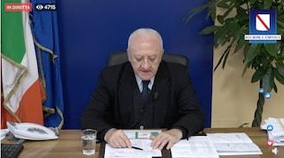 De Luca annuncia un nuovo ospedale a Caserta: 24 posti in Terapia Intensiva