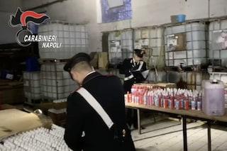Coronavirus Napoli, laboratori abusivi per realizzare disinfettanti: blitz dei carabinieri