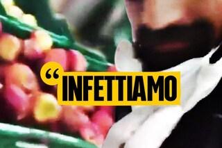 Coronavirus Campania, sputa di nascosto sulla frutta al supermercato e pubblica il video