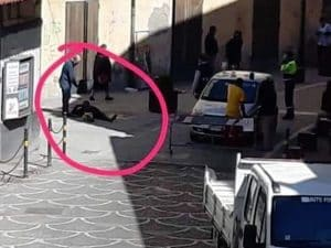 Acerra, il luogo della sparatoria (da Facebook)
