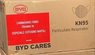 Fabio Cannavaro dalla Cina manda mascherine all'ospedale Cotugno di Napoli: Grazie!'