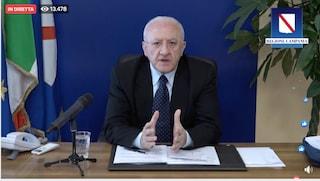 De Luca impone la quarantena obbligatoria a tutti quelli che tornano dall'estero