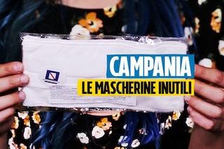 """Le mascherine inutili della Regione Campania costate 3 milioni: """"Sono come un foulard"""""""