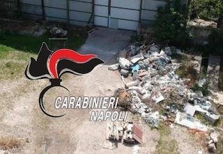 Scisciano, rifiuti ed eternit in un capannone trasformato in discarica abusiva