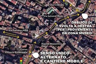Corso Vittorio Emanuele, da lunedì cantiere a piazza Mazzini. Salvator Rosa a senso unico