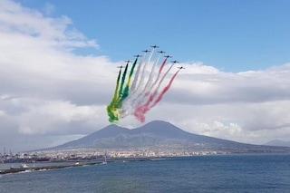 Frecce Tricolore a Napoli giovedì 28 maggio, ecco dove vederle