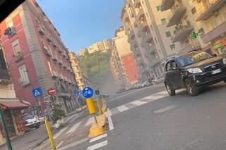 Napoli, fumo all'interno della Galleria Laziale