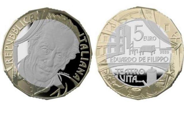 Una moneta speciale dedicata ad Eduardo De Filippo