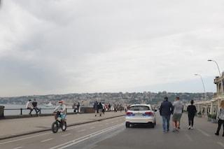 Fase 2, Napoli blindata per la Festa della Mamma: folla sul Lungomare. Droni per i controlli